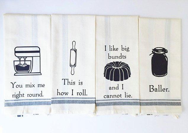 10. Peki ya mutfak havluları?