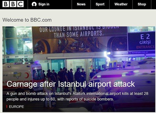 BBC saldırıyı canlı blog şeklinde an an yaşananları yayınlayarak verdi.