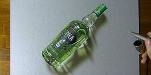 YES! This Vodka Bottle Was Drawn By Hand!