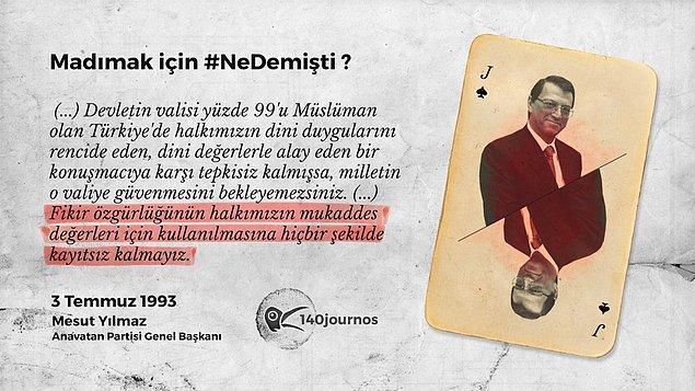 Mesut Yılmaz - ANAP Genel Başkanı