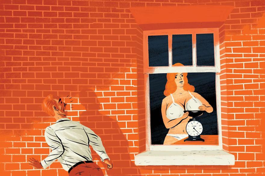Увидел соседку в окне фото 252-345