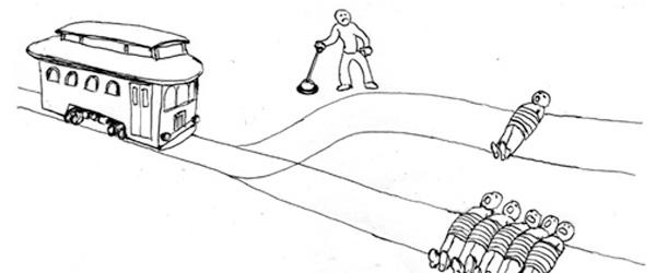 the trolley problem  would you kill one person to save