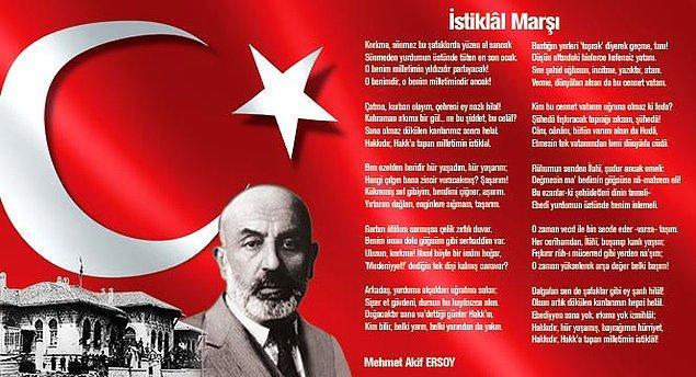 6. İstiklal Marşı hangi yıl yazılmıştır?