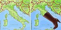 Страны на картах мира - на что они похожи?