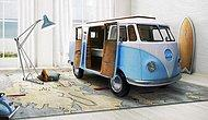 Идея для детской: кровать из микроавтобуса