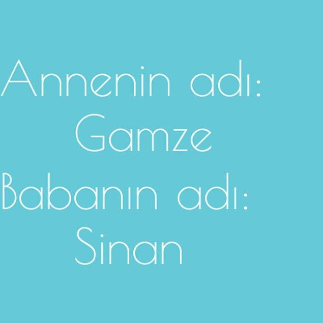 Gamze ve Sinan!