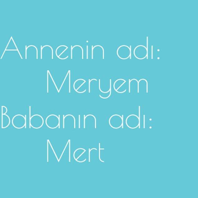 Meryem ve Mert!