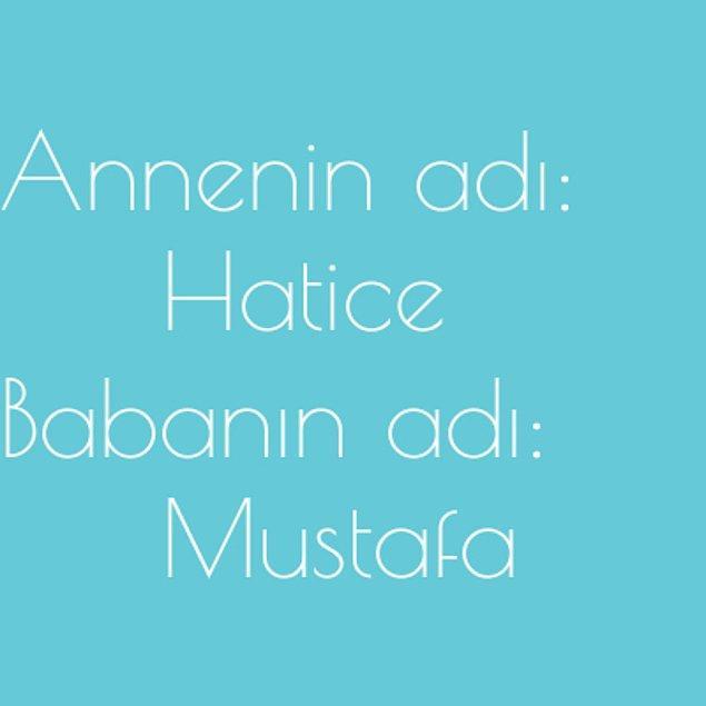 Hatice ve Mustafa!