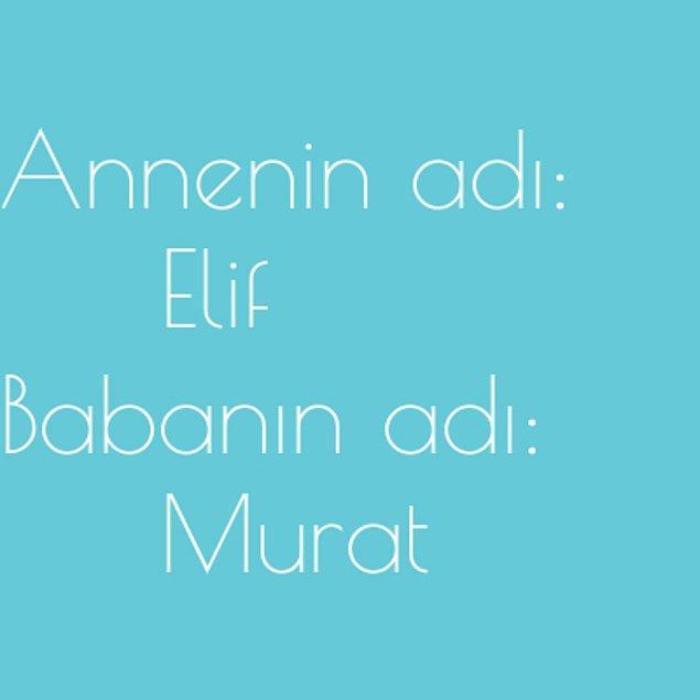 Elif ve Murat!