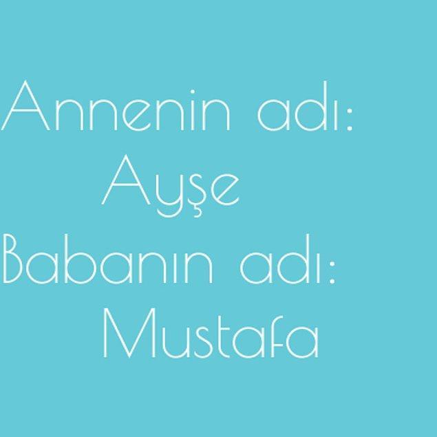 Ayşe ve Mustafa!