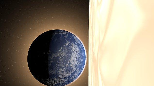 2. Şimdi Dünya'yı direkt Güneş'in yanına yerleştirelim.