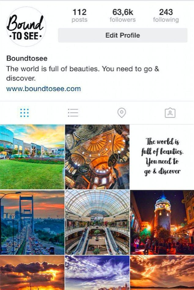 Çektiğiniz fotoğrafları #boundtosee hashtag'iyle paylaşın Boundtosee sizi de mutlaka keşfedecektir...