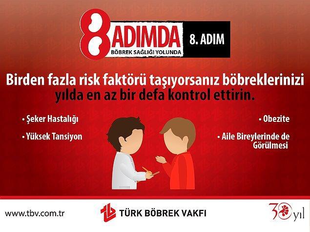 8. Risk Faktörleri Vücut Fonksiyonlarını Bozabilir ve Böbreklerde Hasarlara Neden Olabilir.