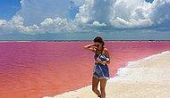 Лучшее в мире место для селфи – Розовая лагуна в Мексике