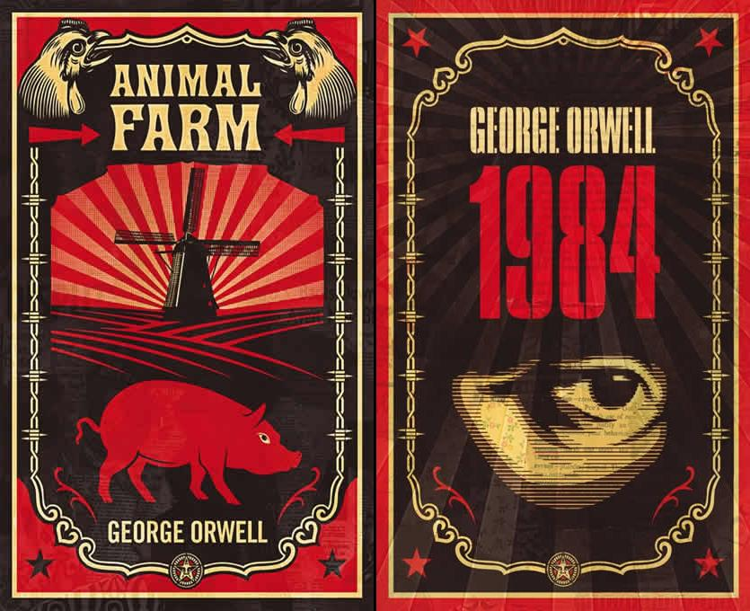 Image result for 1984 and animal farm