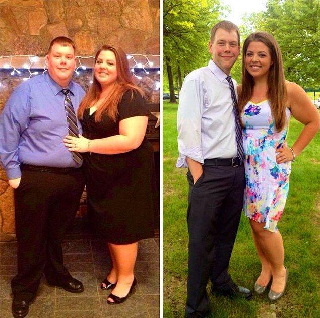 Эта пара решила, что пора менять свою жизнь к лучшему и вместе похудела на 147 кг!