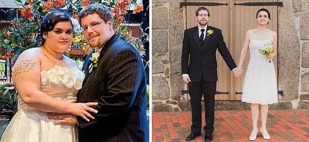 Для 4-ой годовщины своей свадьбы эта пара решила привести себя в форму. Девушка потеряла 49 кг, а парень 58