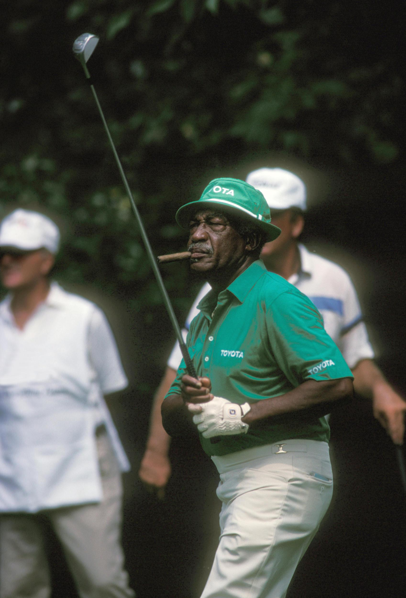 african american athletes Eighty years ago, 100 white men chasing a black man through a field was called the ku klux klan today, it is called the pga tour all the great golfers of the past including nickalus, snead, hogan, sarazen, and palmer were all white.