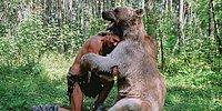 Дружелюбного медведя Степана из России продолжают навещать иностранцы
