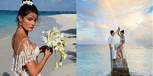 Супермодель Изабели Фонтана вышла замуж в прозрачном платье
