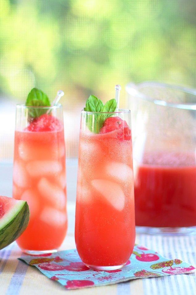 13. Yaz ayları için farklı bir içecek tarifimiz var.