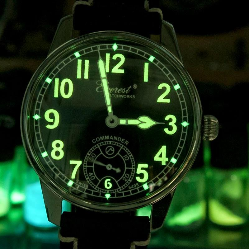 radium watches luminous paint