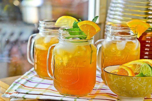 14. Limonatanın buzlu çay haline ne dersiniz?