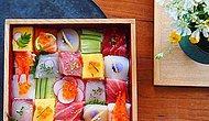Мозаика из суши - вкусное искусство из Японии