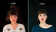 Two Portraits A Day: See How People Change From 7am to 7pm!