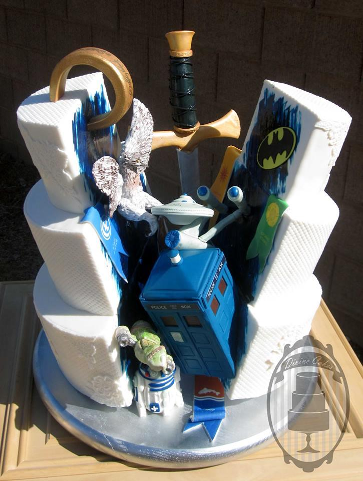 20 Nerdy Wedding Cakes That Will Put Your Cake To Shame Onedio