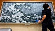Шедевральные картины мелом на доске от японского учителя рисования