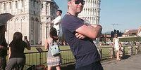 This Guy Trolls Tourists Taking Photos with The Leaning Tower of Pisa