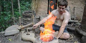 This Genius Builds A Barrel Tiled Shed Using Primitive Technology!