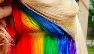 "Latest Trend: ""Hidden Rainbow Hair"""