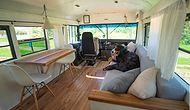 Couple Transforms Old School Bus Into A Dream Mobile Home