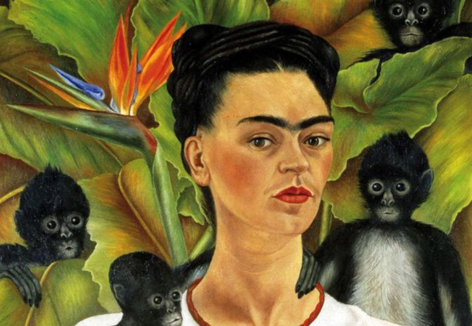 frida self portrait with cropped hair