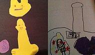 Çocuklar Masum Duygularla Çizse de Yetişkinler İçin Fazlasıyla Talihsiz 16 Resim
