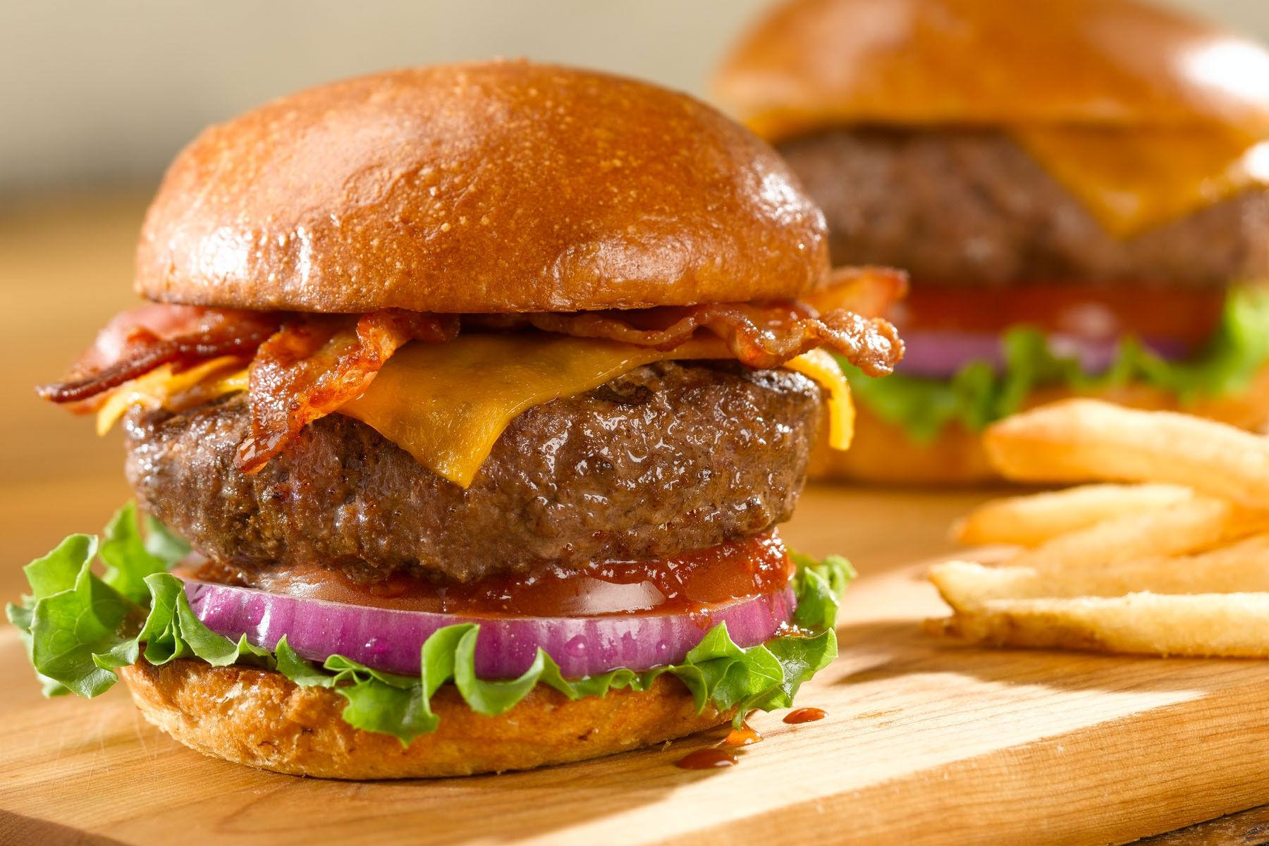 Whole Foods Bacon Cheddar Burger