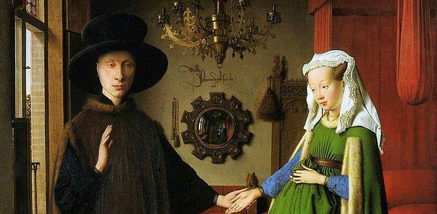 """6. """"Arnolfini'nin Evlenmesi"""", Jan van Eyck"""