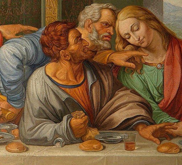 İddiaya göre, Da Vinci, Yahuda (Judas) için bir model aradığında bulabildiği kişi halihazırda Hz. İsa için model aldığı kişiydi.