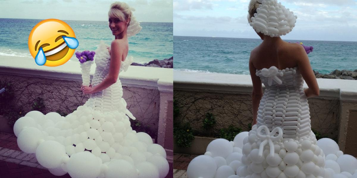 15 Horrible Wedding Dresses That Ll Scare The Groom Away Onedio Co