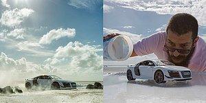 Необычные снимки Audi R8 от оригинального фотохудожника: Такого вы еще не видели!