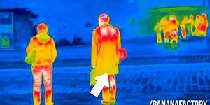 People Farting In Public Caught On Thermal Camera