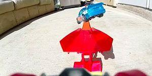 This Dude Turned His Backyard Into A Stunt Race Track For His Toy Cars