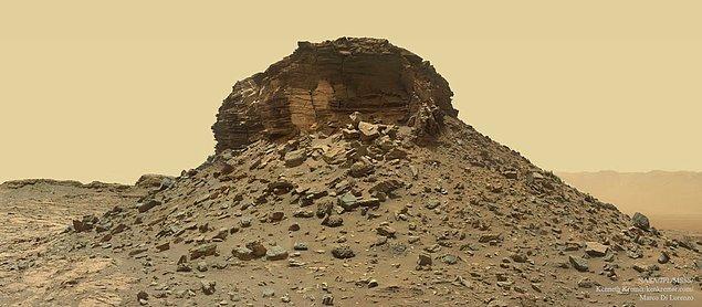 4. Mars'taki Dağılmış Katmanlı Tepe