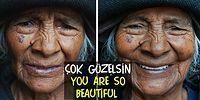 """Фото разных женщин мира до и после фразы """"Вы очень красивая!"""""""