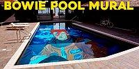 The Artist Who Covered His Pool Floor With A Huge David Bowie Mural!