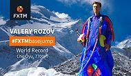 Valery Rozov Breakes World Record In Base Jumping!