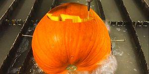 How To Carve A Pumpkin For Halloween In 30 Seconds With A Water Jet?