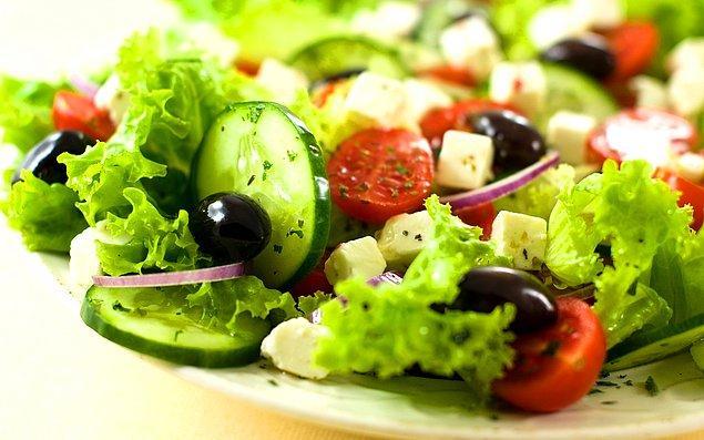 7. Kıvırcık+Salatalık+Zeytin+Kırmızı Soğan+Beyaz Peynir